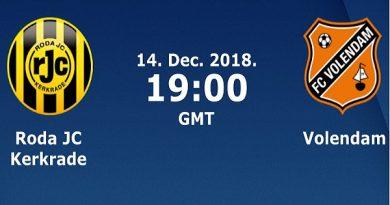 Nhận định Roda JC vs Volendam, 02h00 ngày 15/12/2018: Hạng 2 Hà Lan