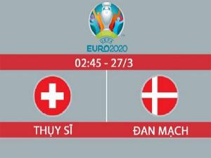 Dự đoán Thụy Sỹ vs Đan Mạch, 2h45 ngày 27/03