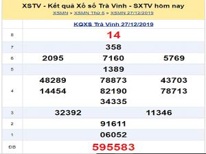 Thống kê kqxstv ngày 03/01 chuẩn 100%