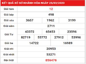 Dự đoán kết quả xổ số Khánh Hòa ngày 29/03/2020 cực chuẩn