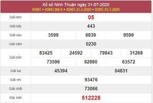 Dự đoán XSNT 7/8/2020 chốt KQXS Ninh Thuận thứ 6