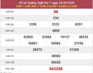 Dự đoán XSQNG 12/9/2020 chốt lô VIP Quảng Ngãi thứ 7