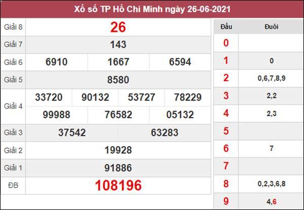 Dự đoán XSHCM 28/6/2021 thứ 2 chốt lô VIP cùng cao thủ