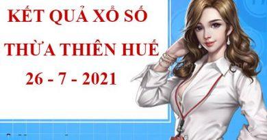 Dự đoán kết quả xổ số Thừa Thiên Huế thứ 2 ngày 26/7/2021